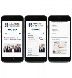 Responsive Mobile Seite