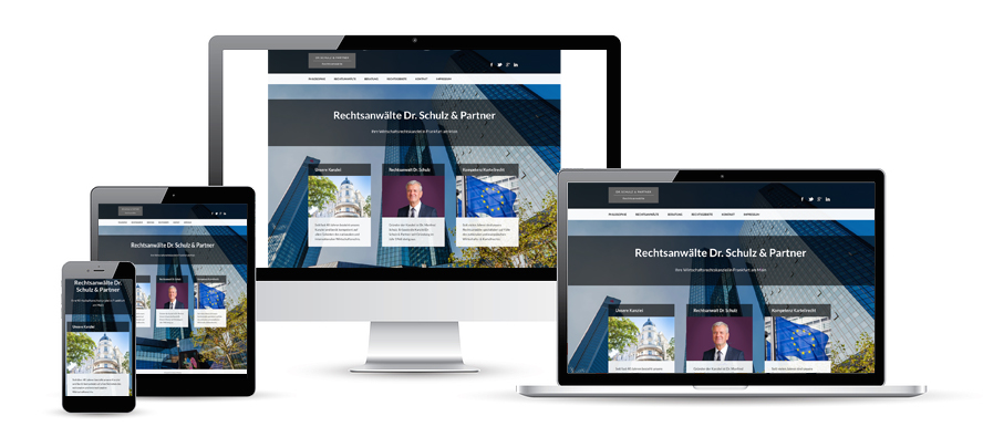 Responsives Webdesign Kanzlei Rechtsanwälte Social Media